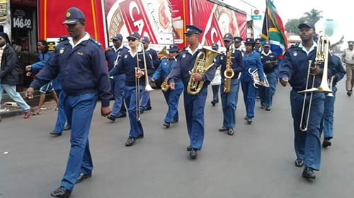 Police brass band and drill squad