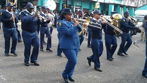 South African Police brass band