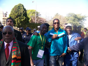 Didier Drogba, Zambia High Commission and ADF members